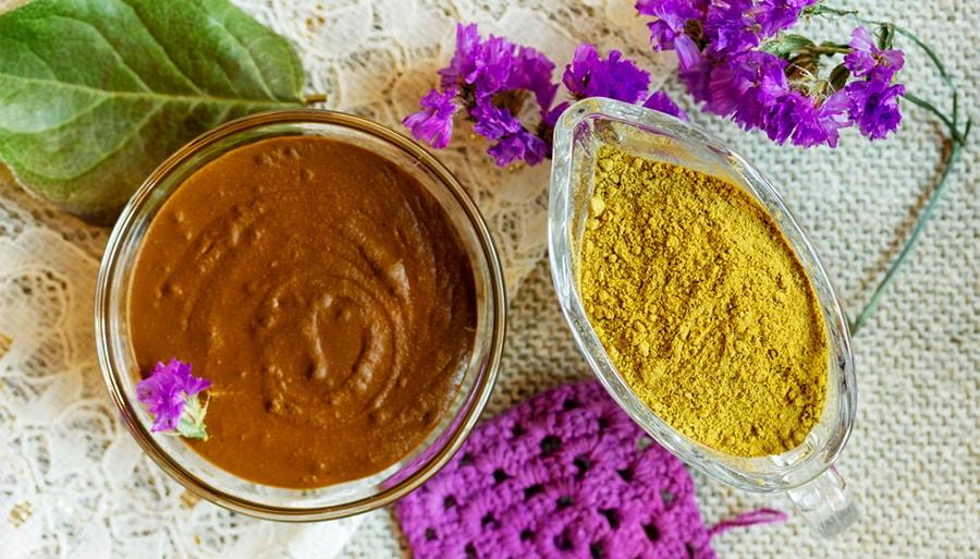 El tinte de henna hindú dura mucho más